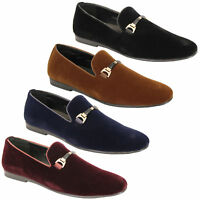 Mens Slip On Italian Shoes Designer Loafers Suede Look Moccasin Style Fashion