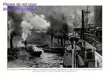Jungfernfahrt Dampfer Columbus XL Kunstdruck 1924 Claus Bergen Lloyd New York +