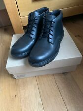 Clarks Asher Walk Older Boys Black leather School Boots UK size 8 F EU 42 M
