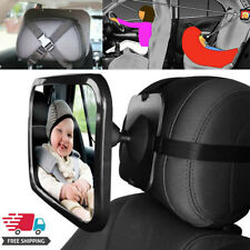 Wide Baby Child Car Safety Back Seat Mirror Rear View Adjustable Headrest Mount