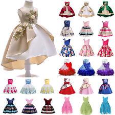 NWT Wedding Flower Girls Dress Tutu Formal Girl Evening Dress Party Maxi Gown