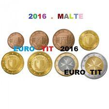 SERIE   8   PIECES   MALTE   2016    RARE      MALTE    /    2016     disponible