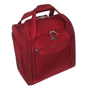 New Unisex Black / Burgundy Roller Wheeled Laptop Trolley Bag Travel Bag EU8235