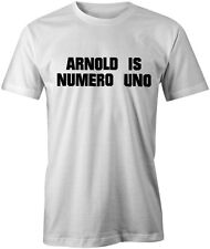 Arnold is Numero Uno Pumping Iron Body Building Schwarzenegger Workout Tee