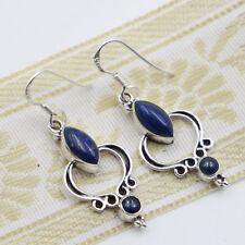 Lapis Lazuli Ohrringe Silber 925 Ohrhänger Cabochon  Lapislazuli blau ats