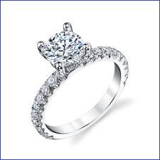 Designer Gregorio Beautiful 18K WG 1.25ctw Diamond Semi Mount & Wedding Band