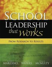 NEW! School Leadership That Works : From Research to Results by Marzano