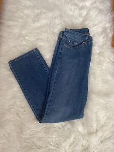 Cambio Jeans Women's Norah Slim Straight Long Blue Stonewash Jeans Size 10
