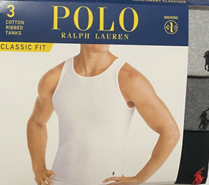 3 POLO RALPH LAUREN COTTON GRAY BLACK TANKS T-SHIRTS UNDERSHIRTS S M L XL XXL