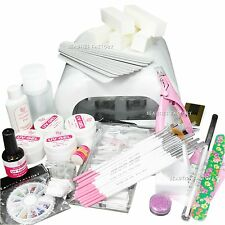 ALL IN ONE Full UV Gel Nail Art Set 36W UV Curing Lamp Pro Tip Extension 789