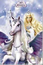 Mattel Barbie Pegasus Poster Print 22X34 New Free Shipping