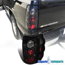 1999-2002 Chevy Silverado/ GMC Sierra Fleetside Tail Brake Lights Glossy Black