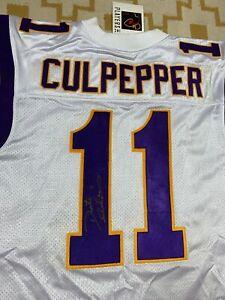 Authentic Puma Minnesota Vikings Daunte Culpepper NFL Jersey SZ 52 SIGNED COA