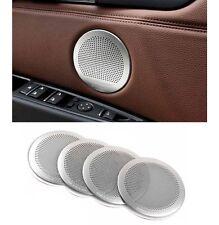 Zinc Alloy Interior Door Speaker Ring Cover Trim 4pcs for BMW X5 X6 2014-2015