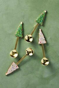 NWT Anthropologie Holiday Tree Teaspoons, SET OF FOUR