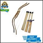 Adventure Awaits! - 2-Pack Handmade Wooden Bow and Arrow Set - 20 Wood Arrows an