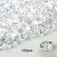 100 PCS Clear Fake Crushed Ice Rocks Ice Cubes Acrylic Vase Fillers DIY Decor F