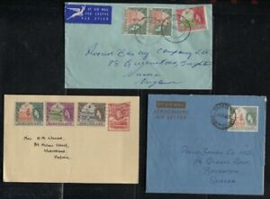 Basutoland 2 1960's & 1 GVI 1d Uprated QEII Commercial Use Covers