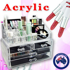 Cosmetic Display Jewellery Organizer Storage Box 4 Drawers Storage Clear Acrylic