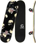 GONEX NEW Skateboard Complete 31 x 8 Concave Double Kick Maple Deck Kids Skull..
