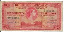 BERMUDA, 10 SHILLINGS, QEII, P#19a,1952