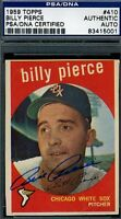 Bill Pierce Signed Psa/dna 1959 Topps Certified Authentic Autograph