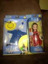 "8"" Madeline Doll New Face WBlue Coat Outfit & Madeline Doll with Red Dress -New!"