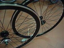 COPPIA RUOTE bici BICICLETTA FIXED SINGLE SPEED FIXED CORSA 40 mm NERE