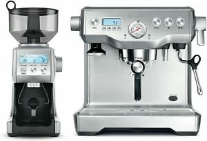 Breville The Dynamic Duo Espresso Machine with Grinder Stainless Steel BEP920BSS