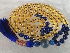8mm Citrine Lapis Lazuli beads mala Necklace Creativity Emotional balance