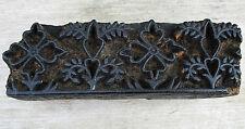 Antique Printing Stamp Hand Carved Wood Border Design for Textile or Wallpaper