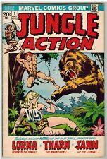 JUNGLE ACTION #1 1972 LORNA JANN GGA MARVEL BRONZE AGE FIRST ISSUE NICE!
