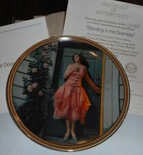 1983 Standing In Doorway 7th Rediscovered Women Norman Rockwell Collector Plate