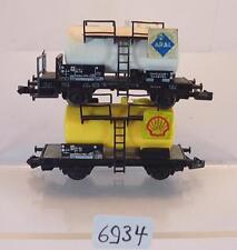 Fleischmann Spur N 2 Stück Kesselwagen Shell Aral 2-achsig der DB #6934