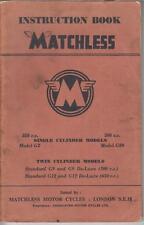 MATCHLESS MODEL G3 G80 G9 G12 ORIG. 1958 FACTORY MAINTENANCE & INSTRUCTION BOOK