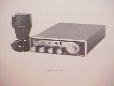 1977 HITACHI CB RADIO SERVICE SHOP MANUAL MODEL CM-2425H