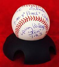 CHIPS Signed Autograph Erik Estrada Larry Wilcox Rawlings Baseball JSA COA