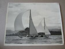 Original Old Vintage 1953 Transpacific Yacht Race PHOTO - Morning Star - HAWAII