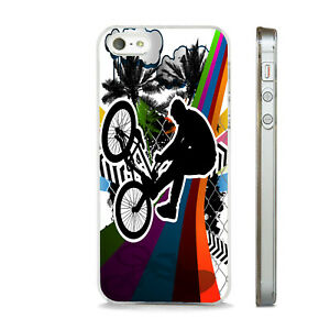 ABSTRACT BMX BIKE STUNT BRIGHT NEW PHONE CASE COVER FITS All APPLE IPHONE MODELS