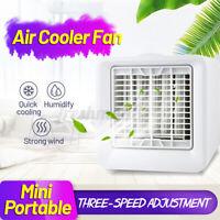 Portable Mini Air Conditioner USB Cool Cooling Fan Cooler Desktops Humidifier