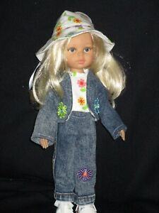 Darling Little Paola Reina Doll OUTFIT ONLY Floral Daisy Jeans Jacket Sneakers