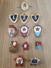 12 X Original Russian Ussr Military Badges
