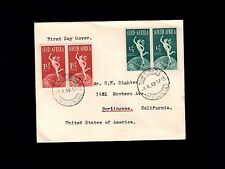South Africa FDC Mercury Hermes Globe Africaans English 1949 Cover 8r