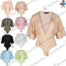 Unbranded Polyester Short Sleeve V Neck Women's Tops & Shirts