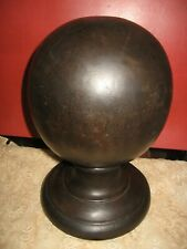 ANTIQUE ROUND WOOD STAIRCASE NEWELL POST FINIAL