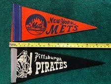 Vintage 1960's Pittsburgh Pirates Baseball Mini Felt Pennant 4 x 9 Inches