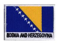 Ecusson patch patche drapeau Bosnie Herzegovine 70 x 45 mm à coudre