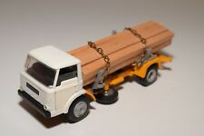 E TEKNO DENMARK FORD D-800 WOOD TRUCK WHITE YELLOW NEAR MINT CONDITION