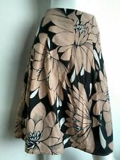 WALLIS floral cotton skirt size 10 --USED ONCE-- knee length lined