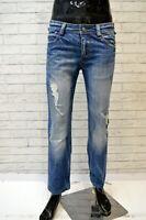 ALVIERO MARTINI Jeans Uomo Denim Taglia 30 Pants Men Pantalone Slim Fit Blu